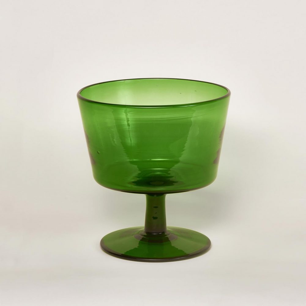 Vase chinage coupe verte