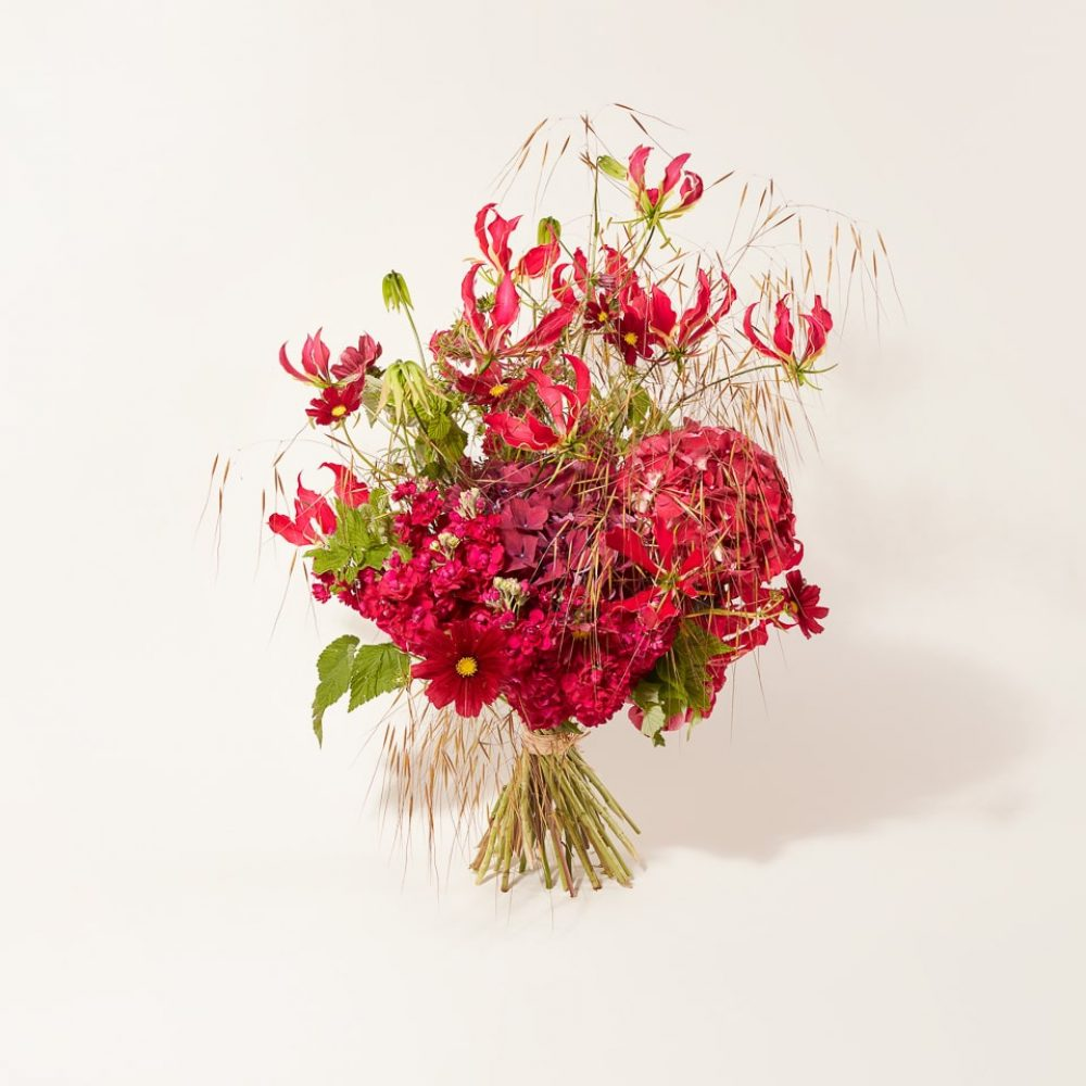 Structured bouquet of fresh flowers
