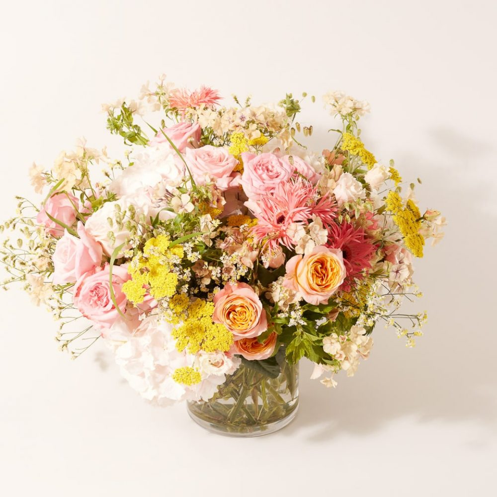 Bouquet of flowers and seasonal plants