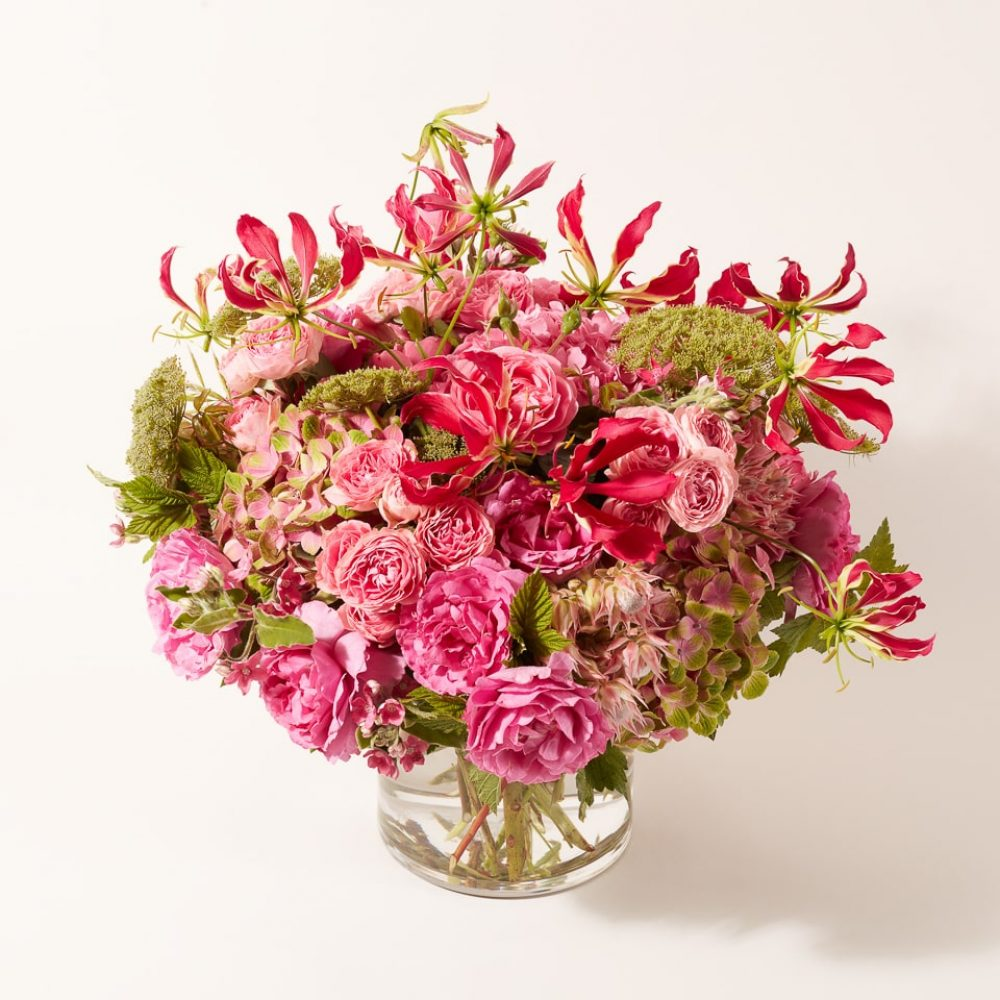 Bouquet of seasonal flowers and plants