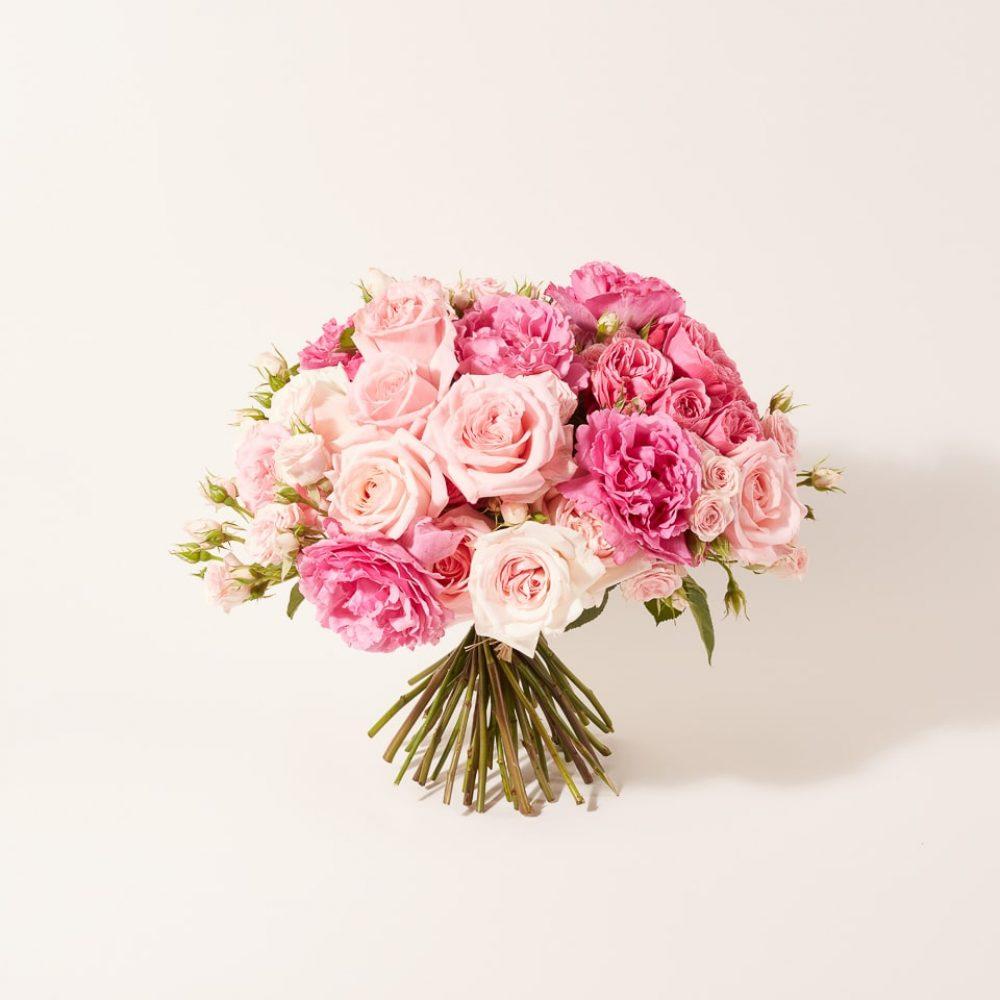Bouquet of flowers in monochrome